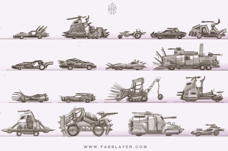 Postapocalyptic vehicles