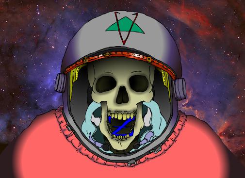 Skeleton Cosmonaut