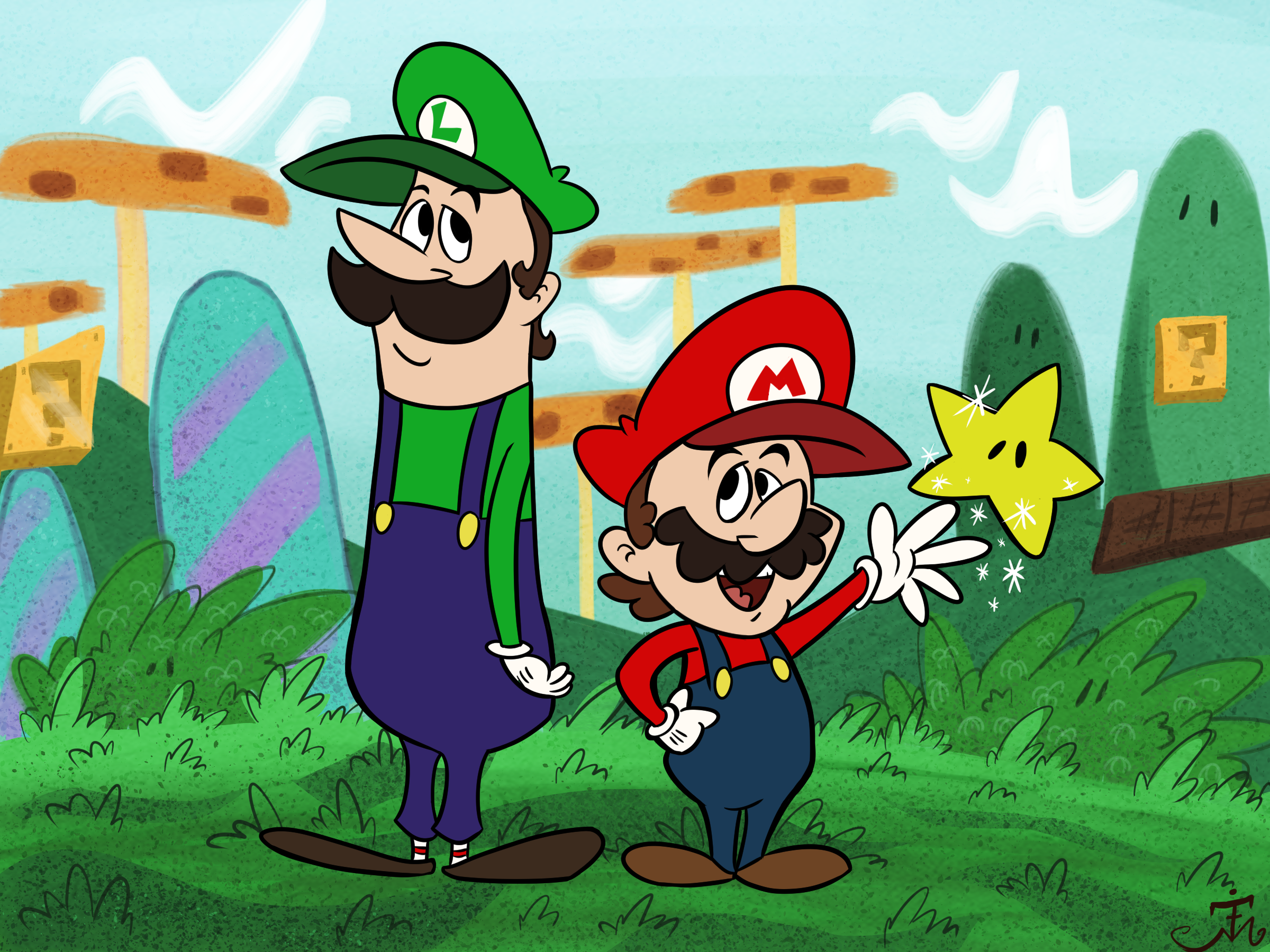 Hanna-Barbera Style Super Mario Bros.