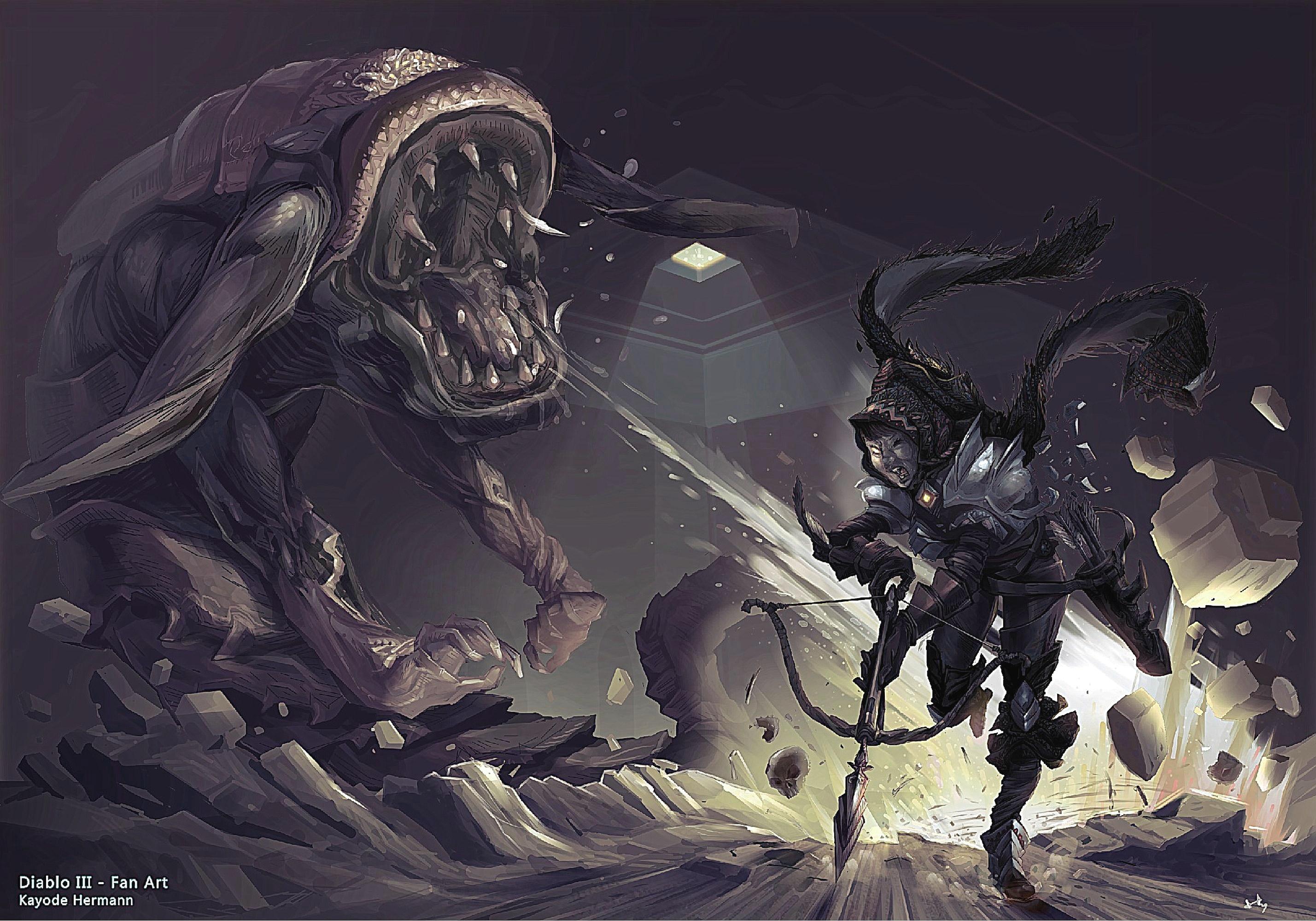 Diablo 3 fan art [Hunter class]