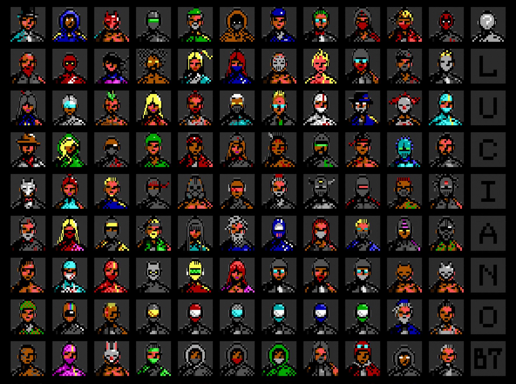 100 Avatars