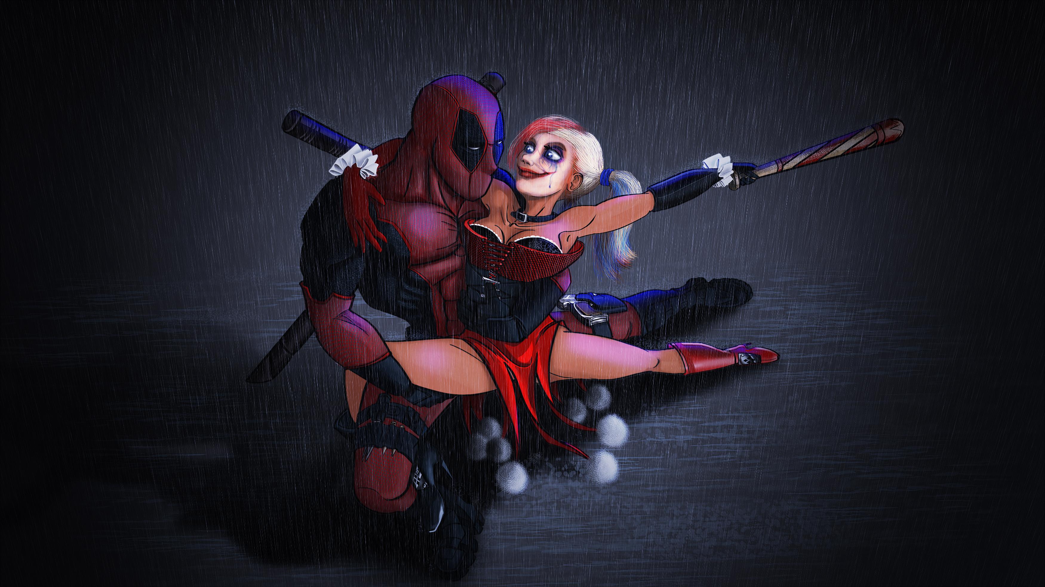 deadpool and harley quinn tango