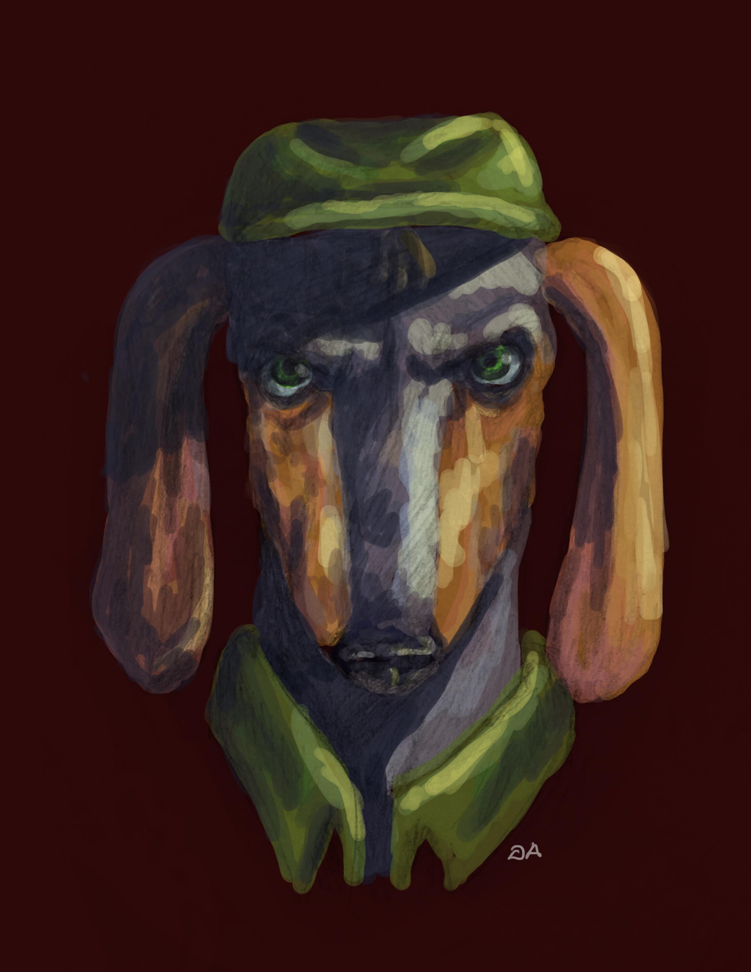 Alfred Alfer Realistic Portrait (Interpreted?)