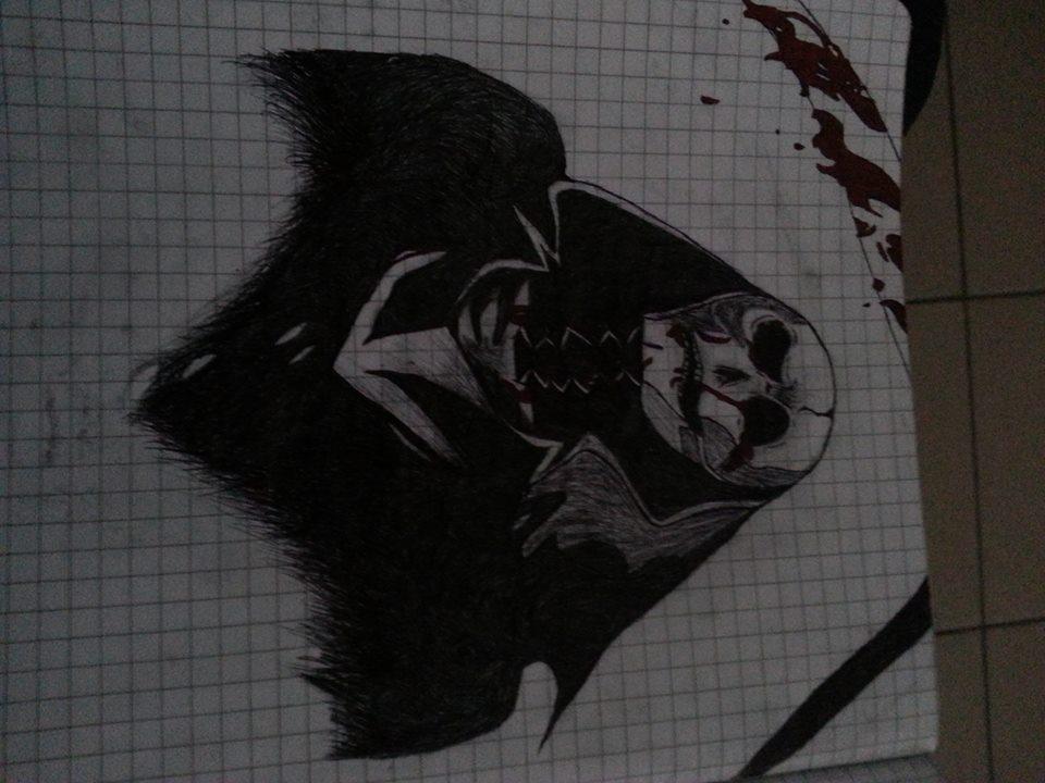 Grim moody