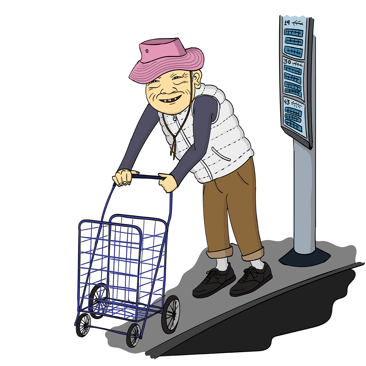 The Old Chinese Lady That Takes The Bus