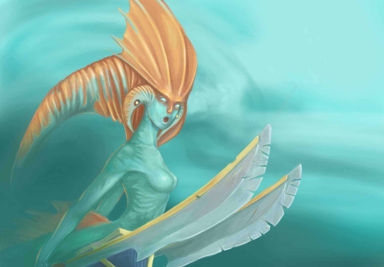 Naga Siren Illustration from Dota2
