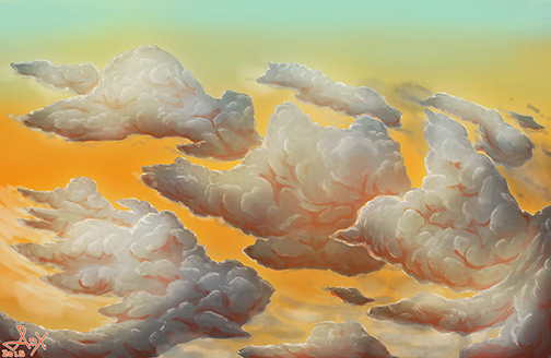 Cloud Painting study