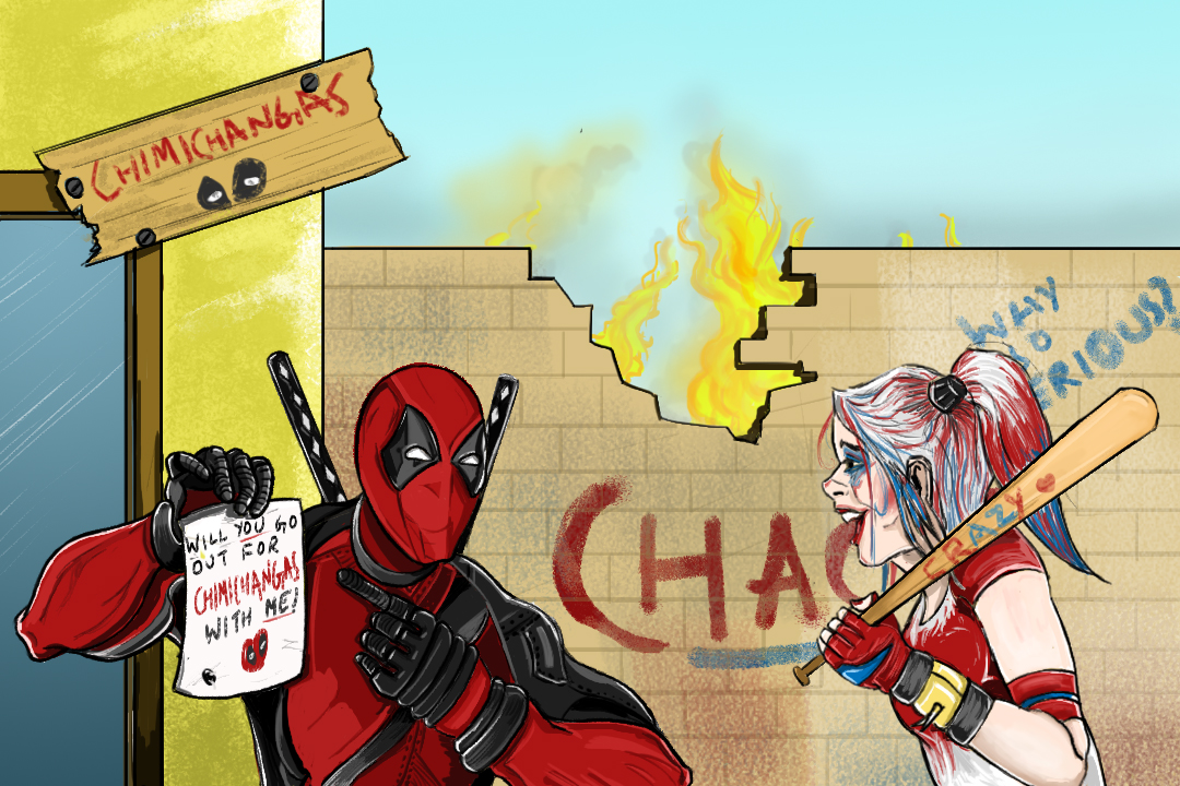 Deadpool and Harley's Chimichanga Date