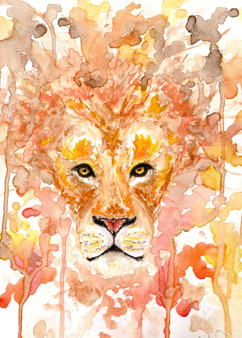 Watercolor- Lion