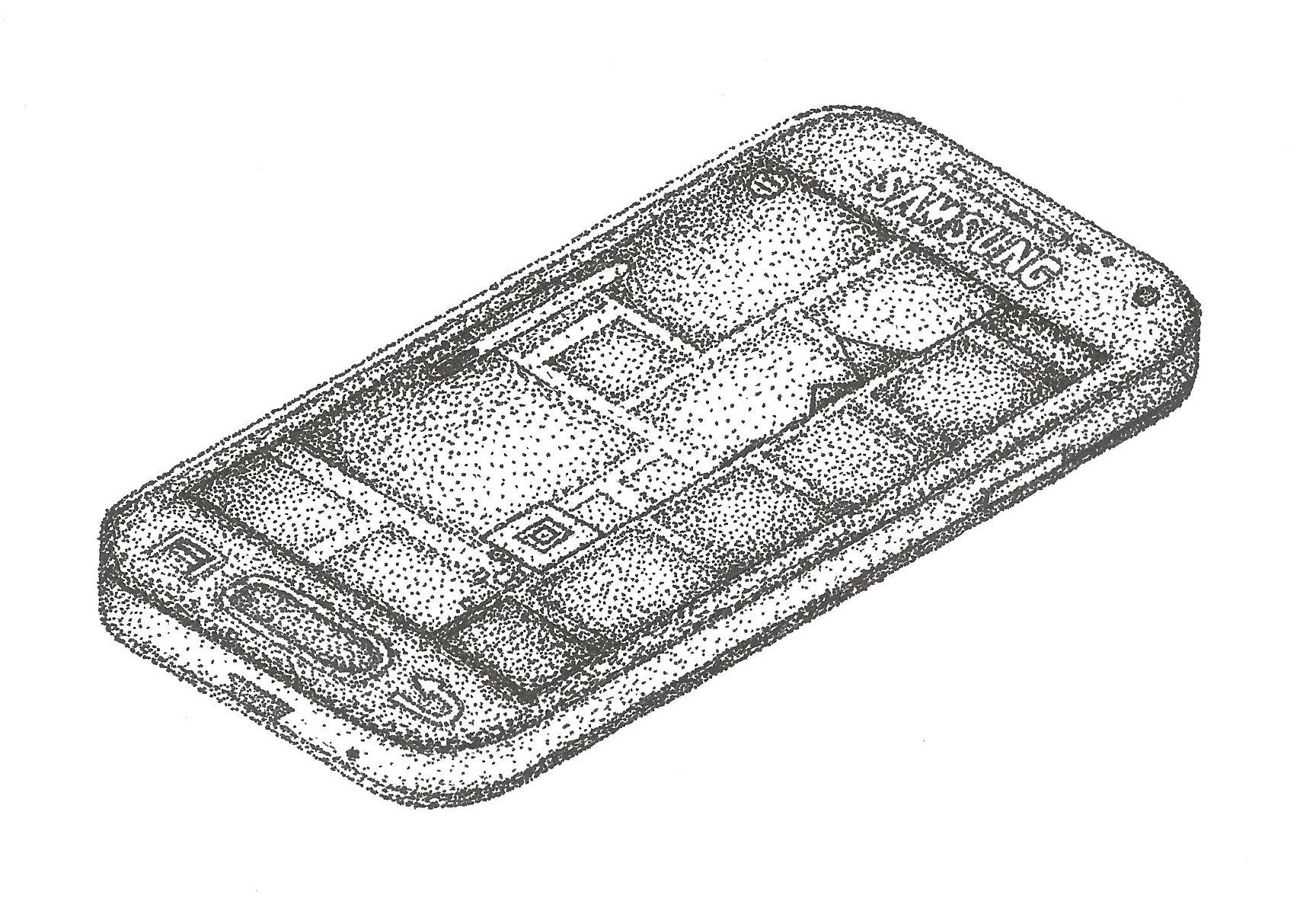 Phone drawn using point