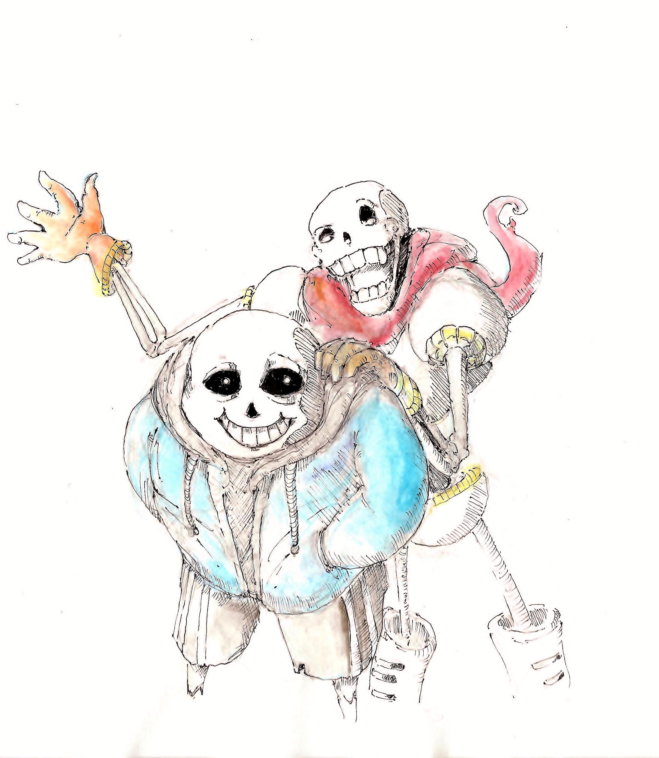 [Undertale Fan Art] Brotherly Shot