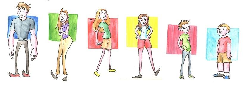 Caricature Lineup: Siblings