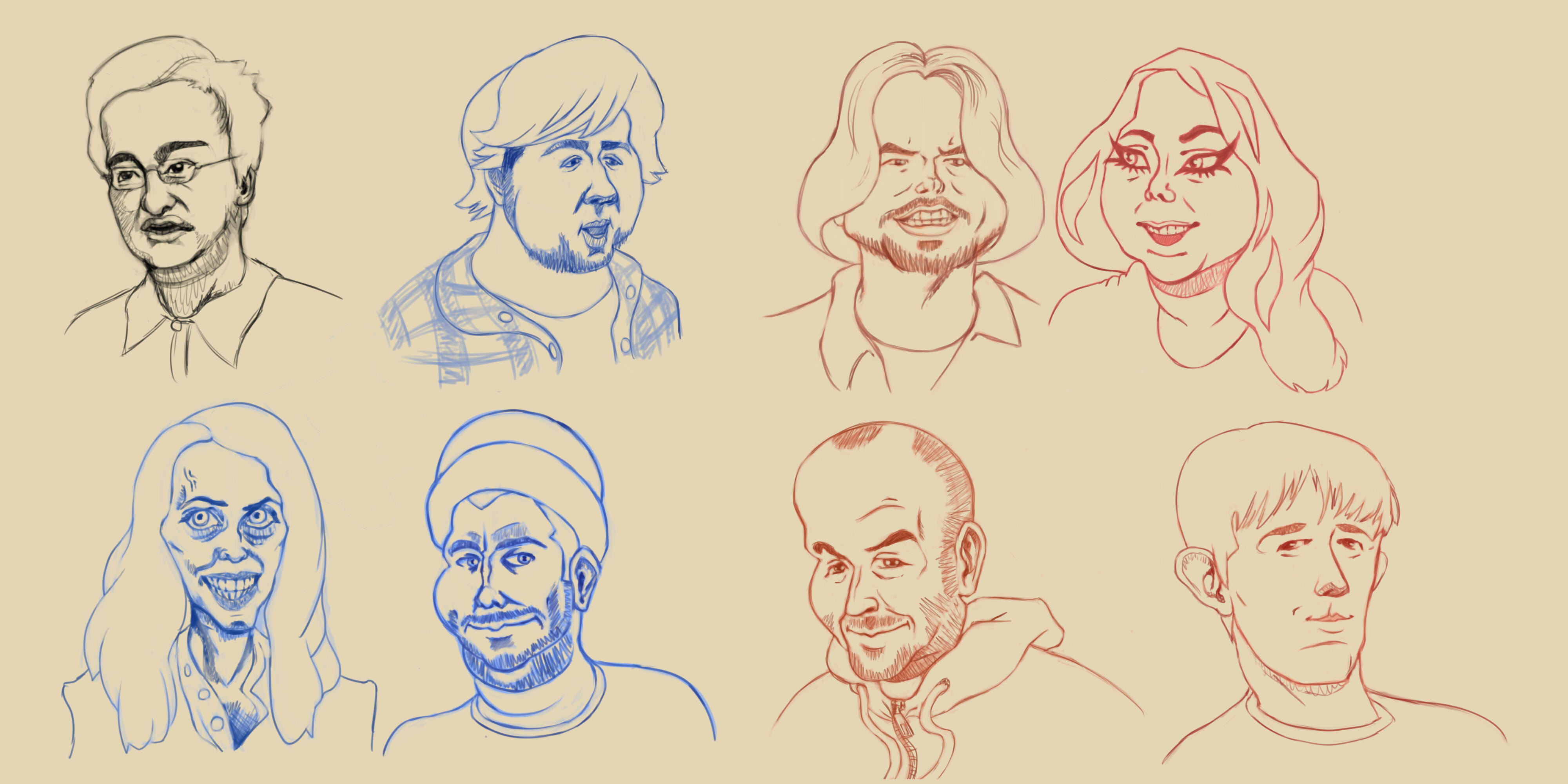 Caricature sketches- Youtubers