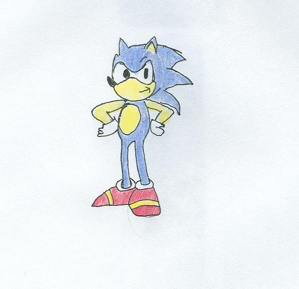 My own Sonic drawing