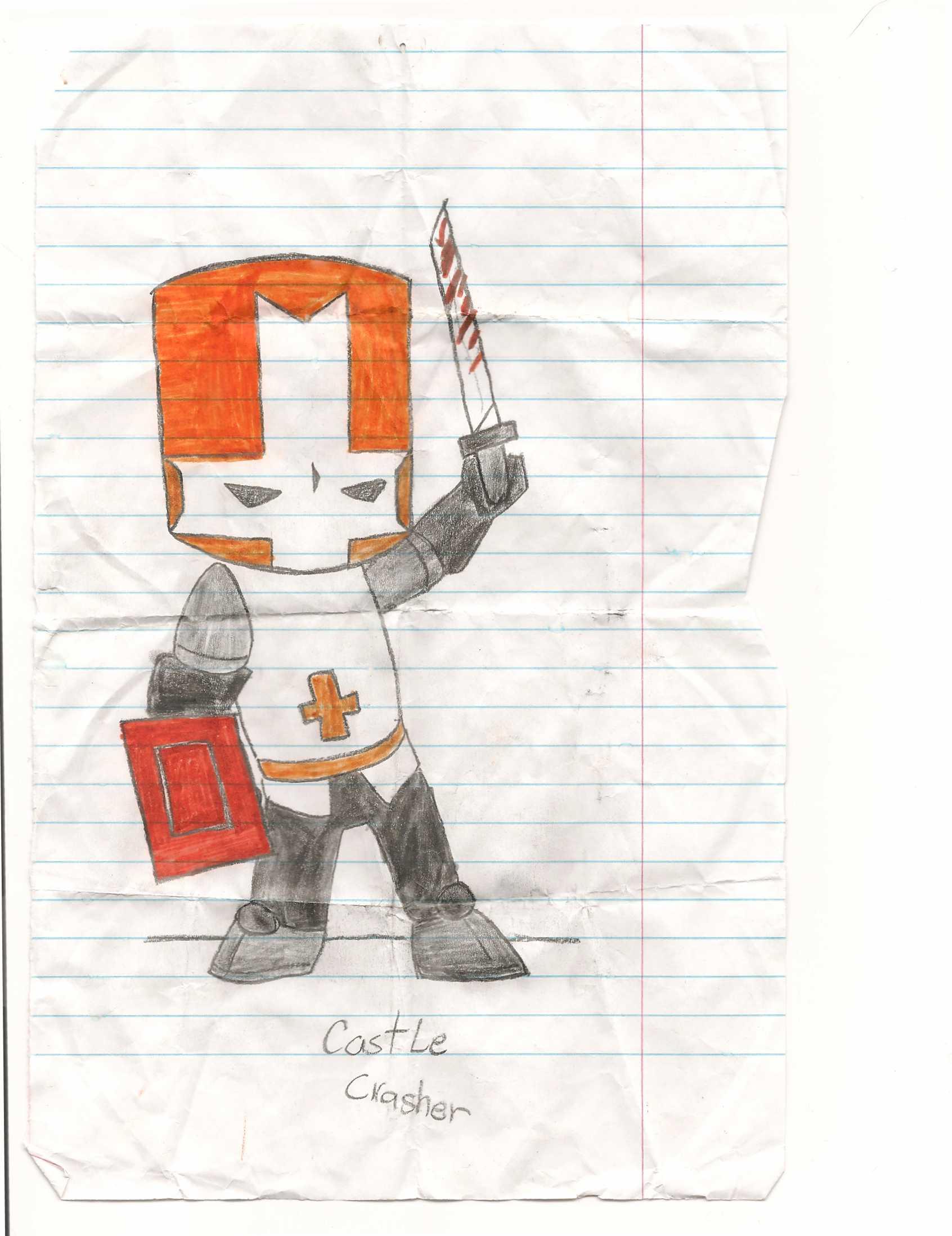 orange castle crasher