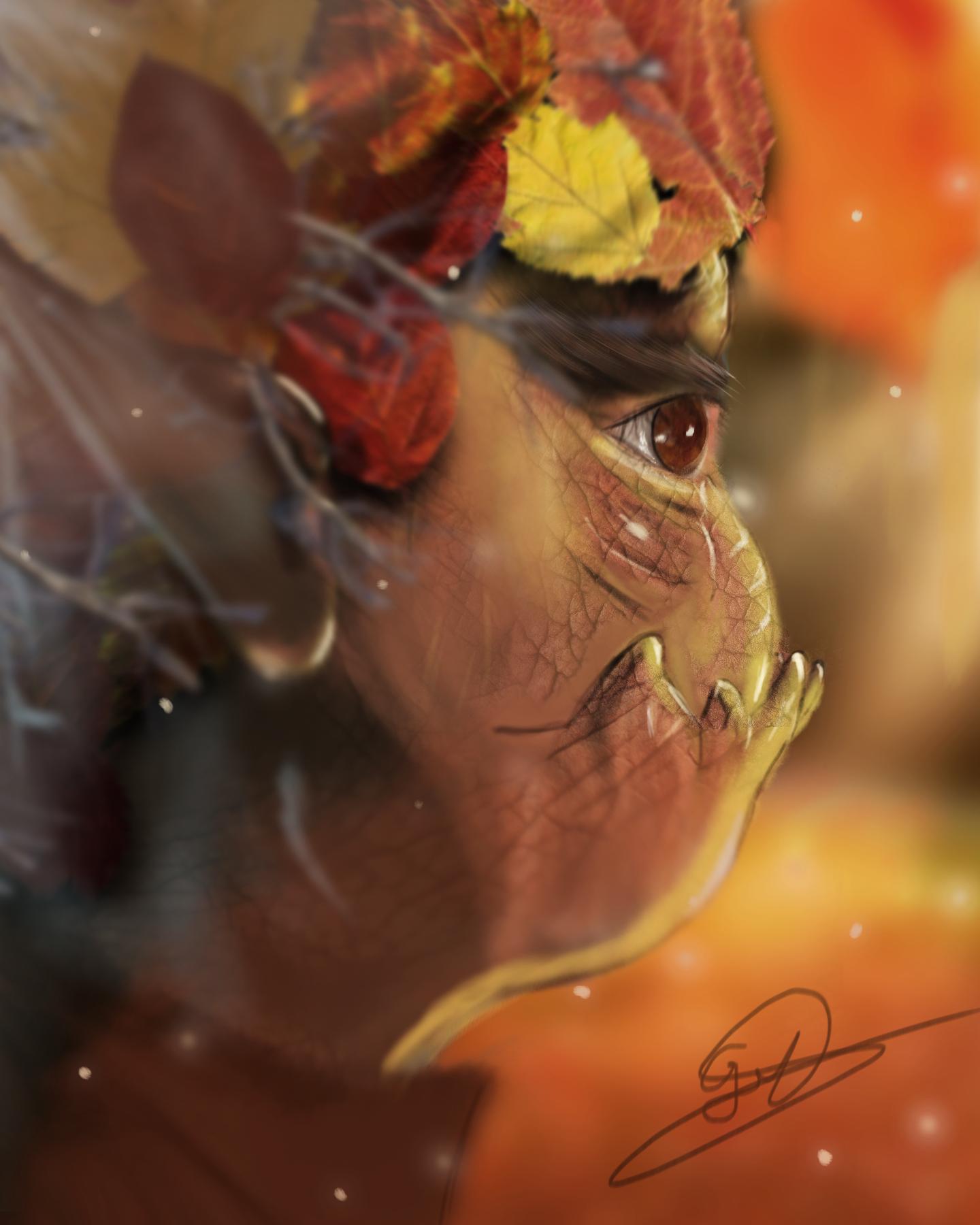The autumn gnome