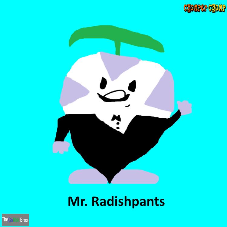 Chomper Chomp Characters- Mr. Radishpants