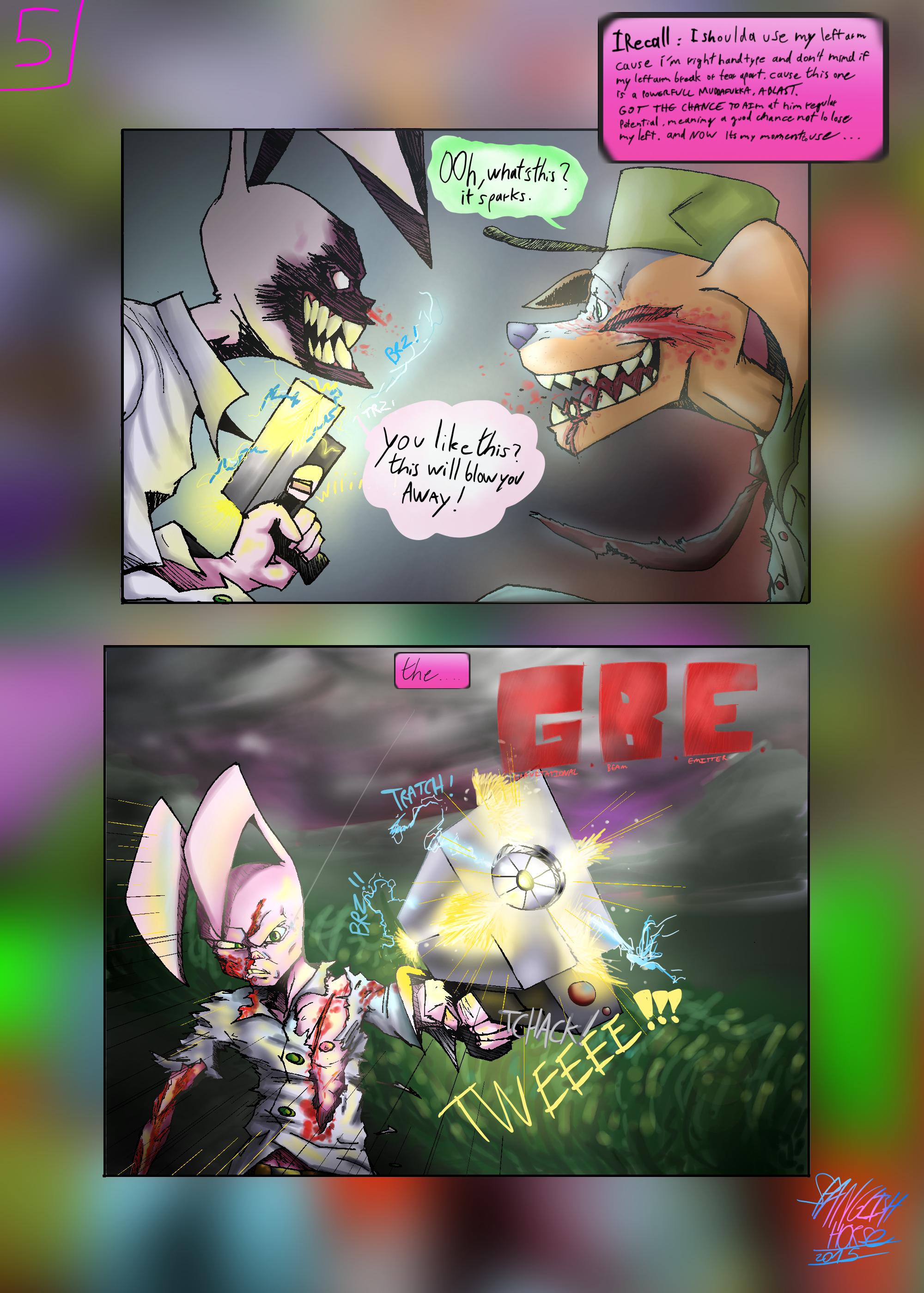 Bob the Psycho Rabbit Vs Alfred Alfer Page 5 (comic) (5/39)
