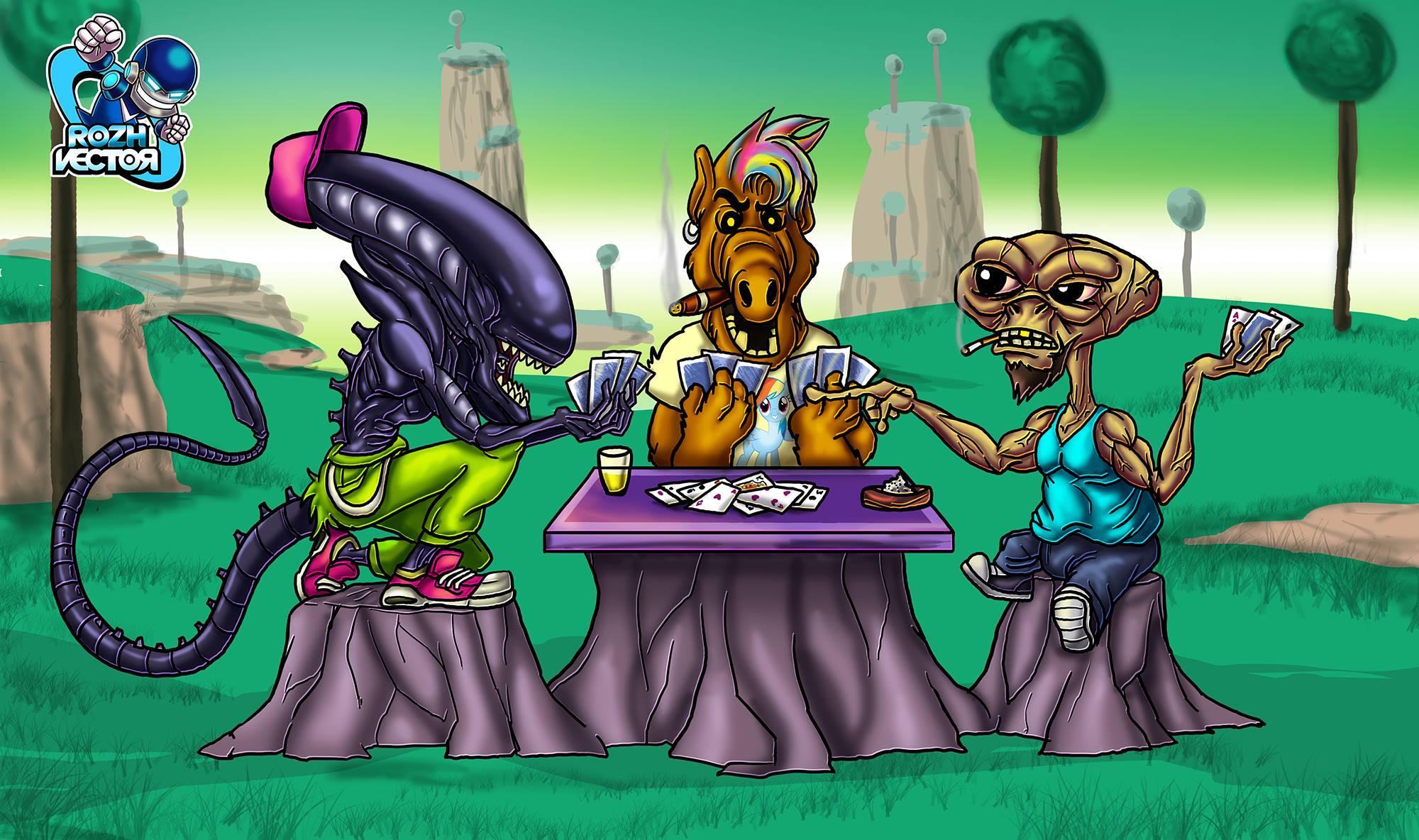 ALIEN,, ALF and E.T. anothet freakin game in NAMEK