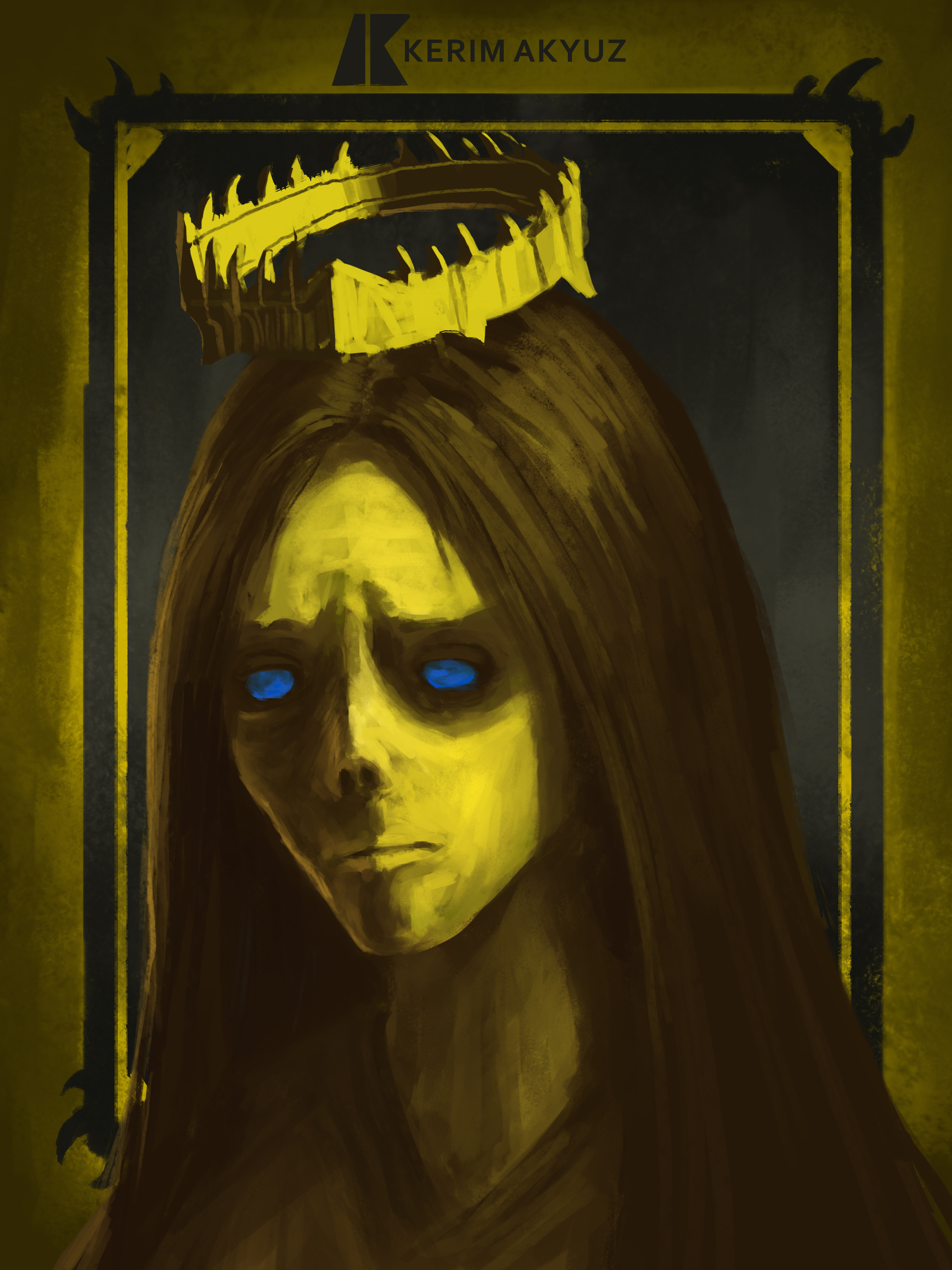 Daily Imagination #188 - Yellow Queen of Stone
