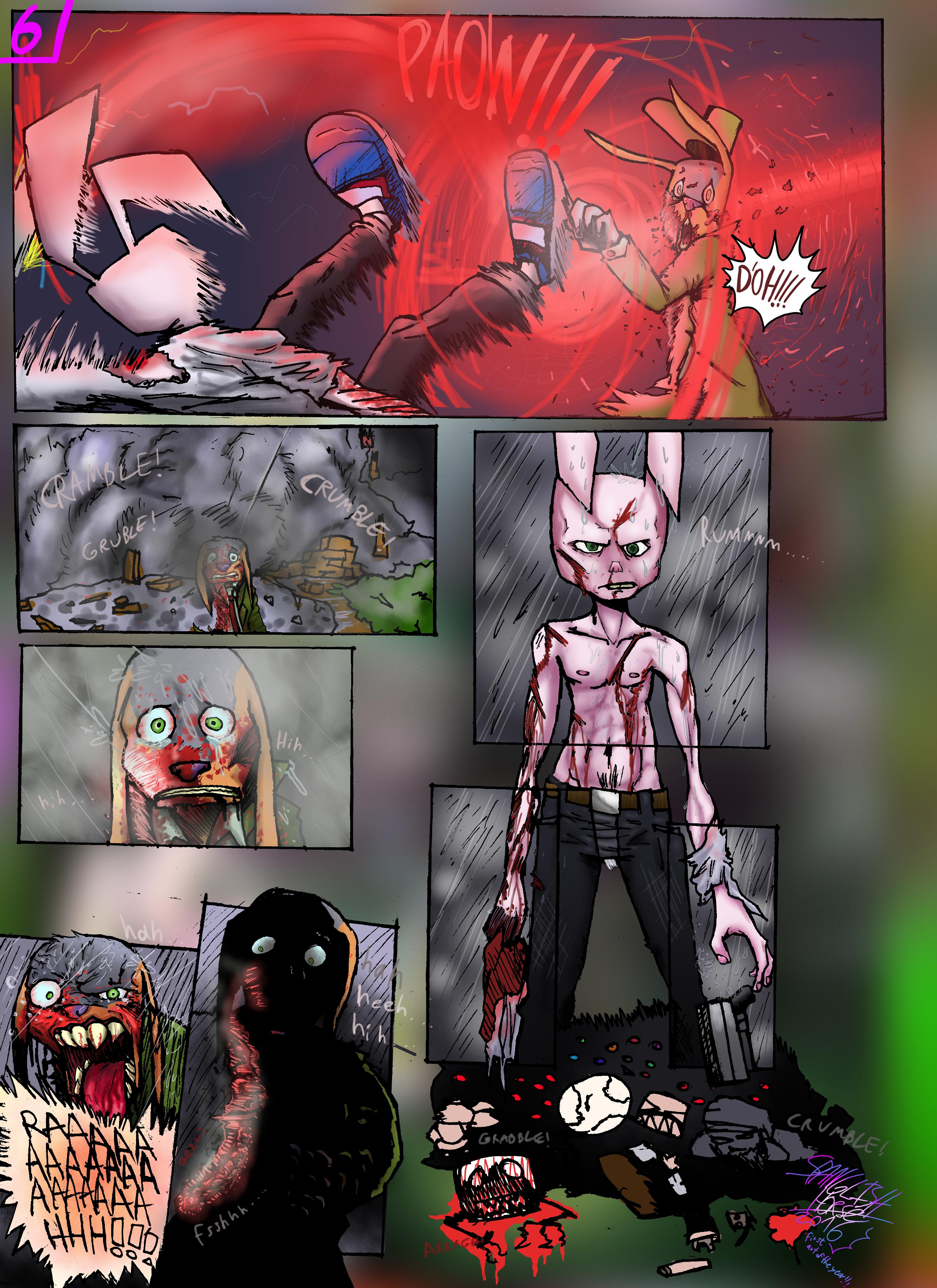 Bob the Psycho Rabbit Vs Alfred Alfer Page 6 (comic) (6/39)