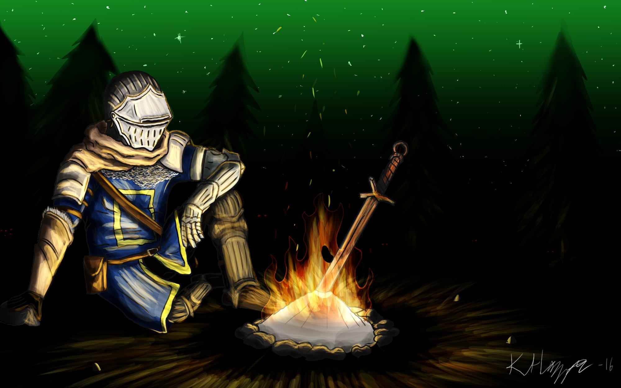 Bonfire - Dark Souls fan art