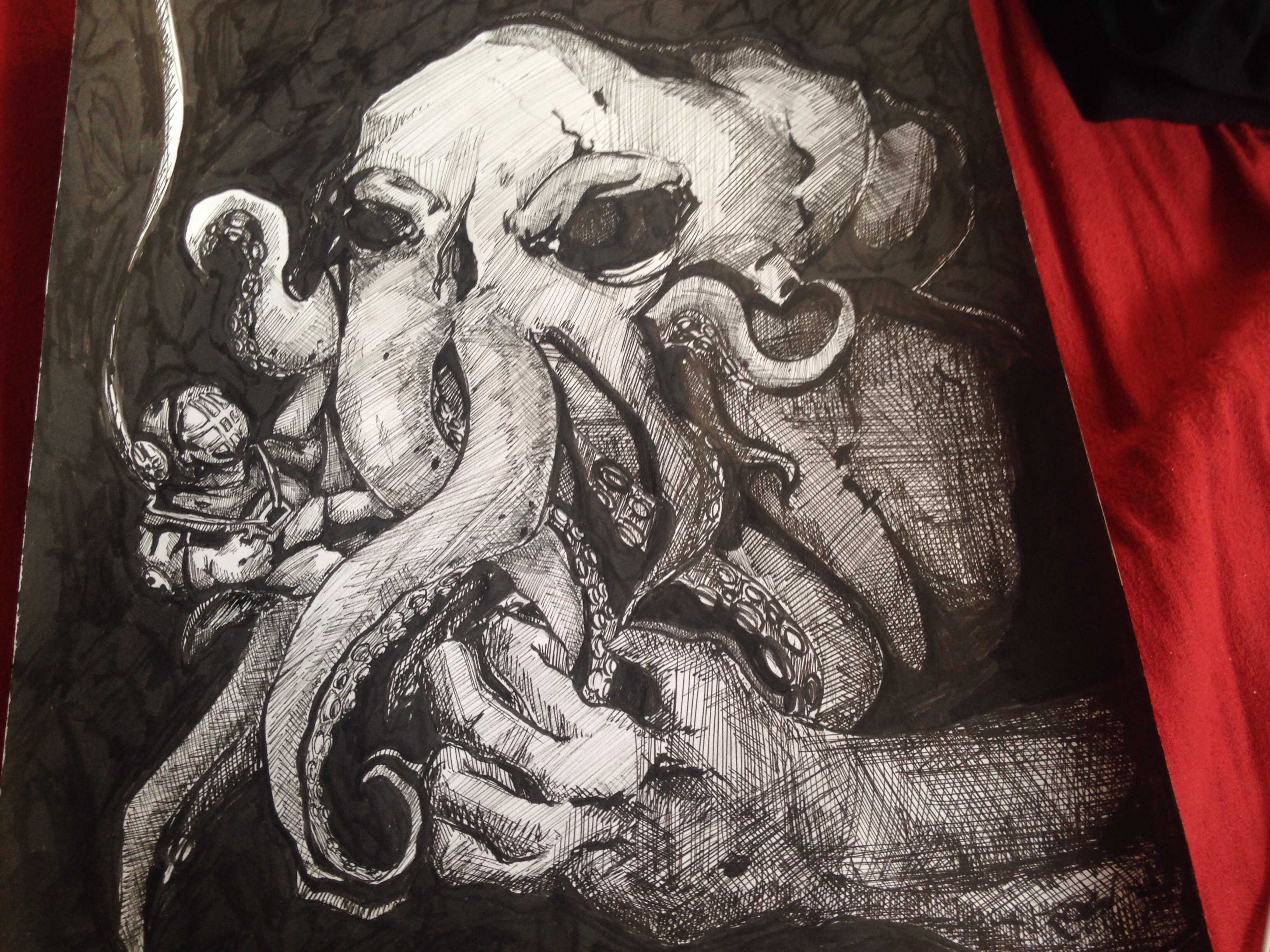 Cthulhu and scuba diver