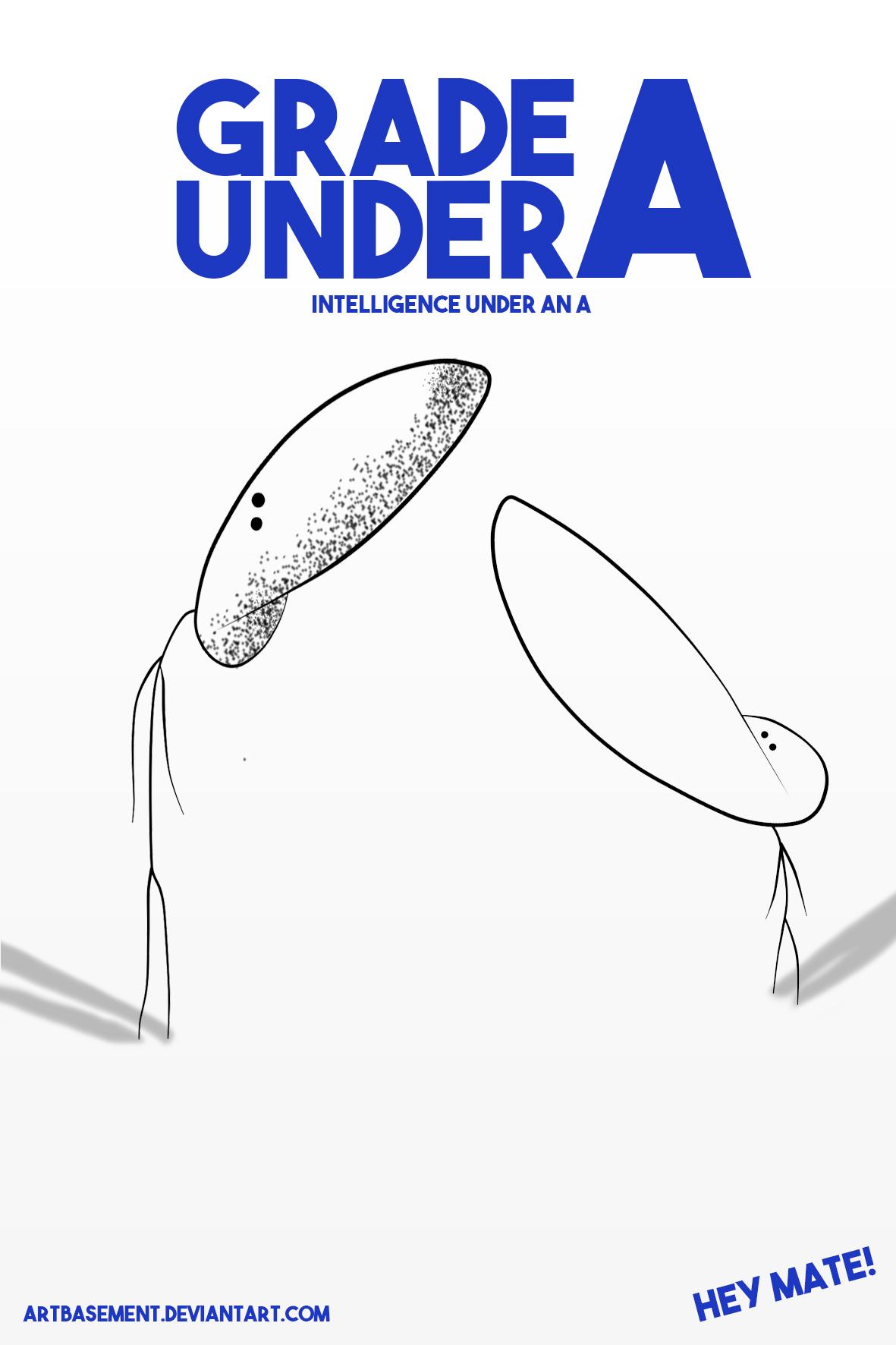 GRADE A UNDER A - Poster