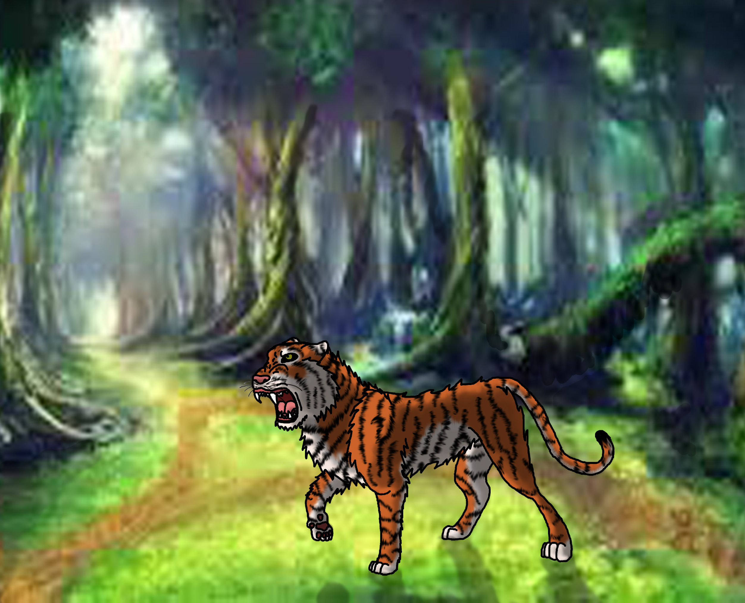 IT'S A FREAKING TIGER!!!!