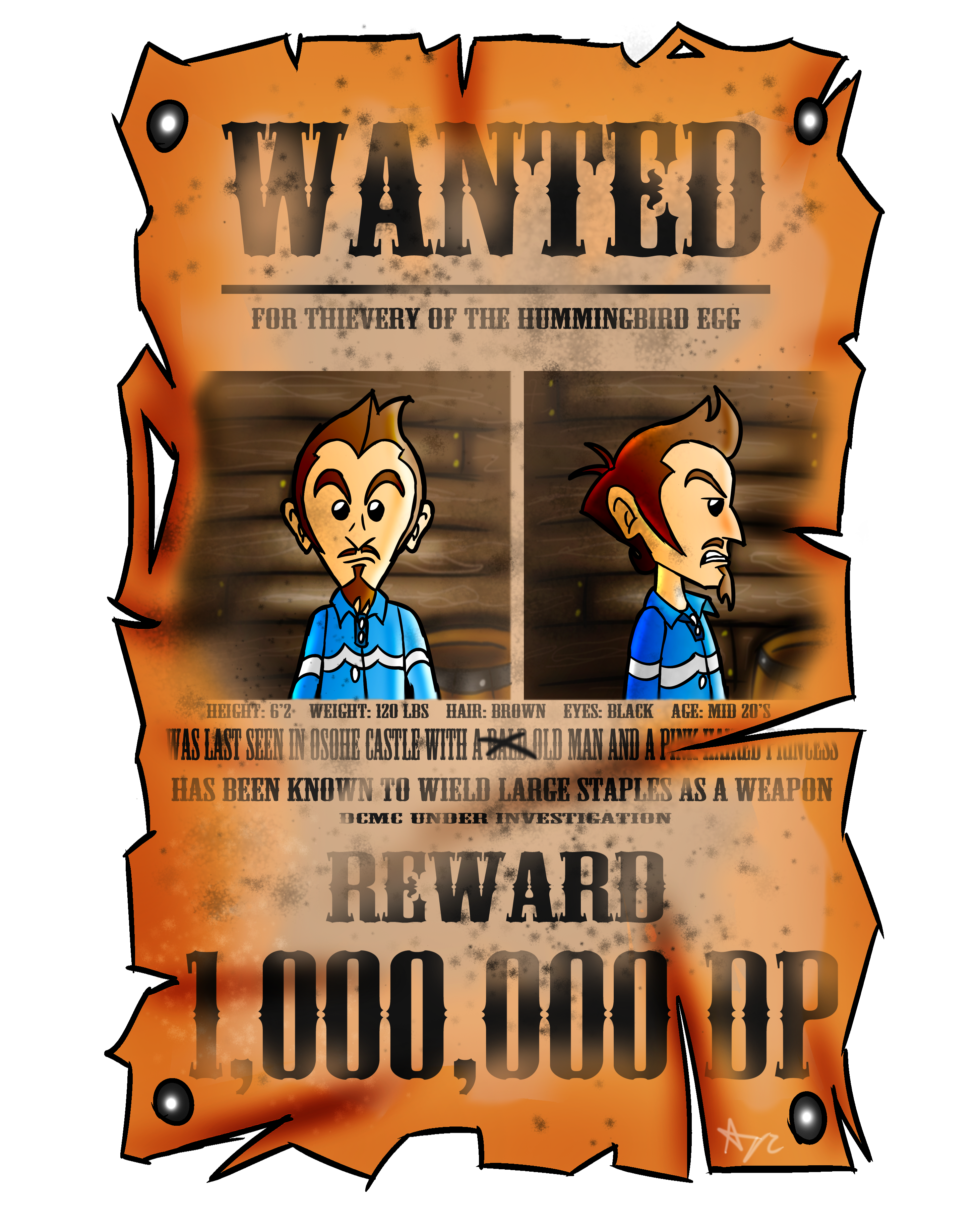 Duster Wanted Poster
