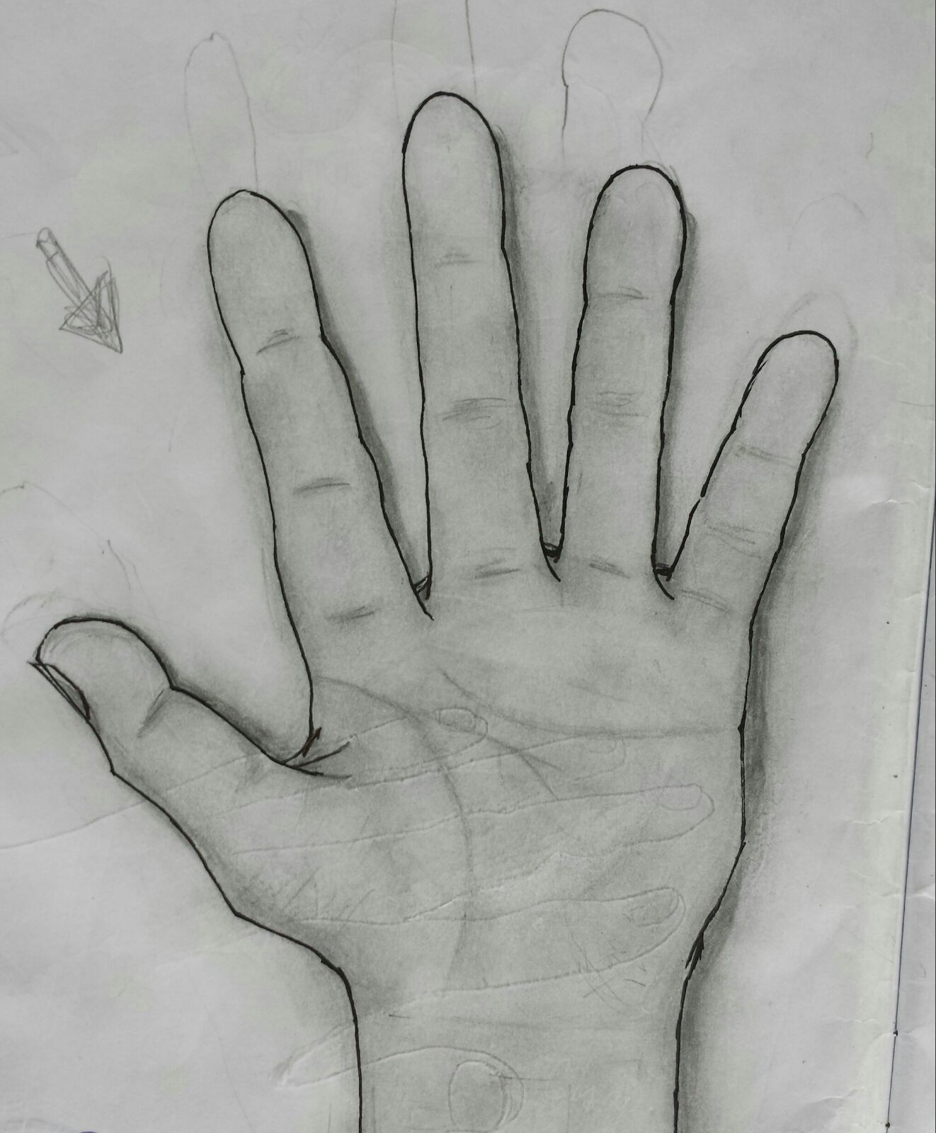 Realistic Hand Portrait