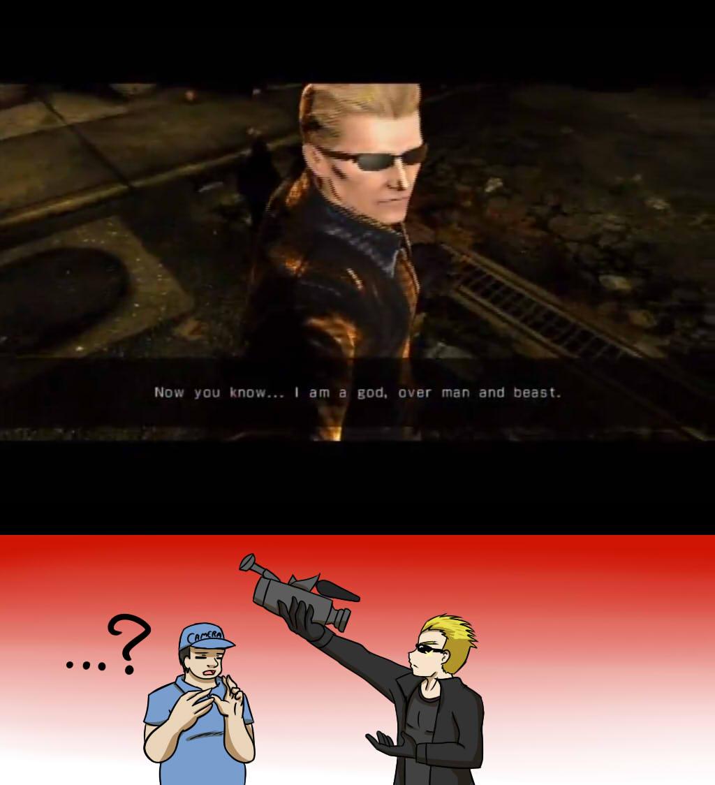 Marvel VS Capcom 3:Wesker joke