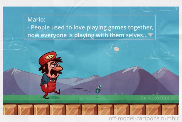 Super Mario - Off-model Cartoon