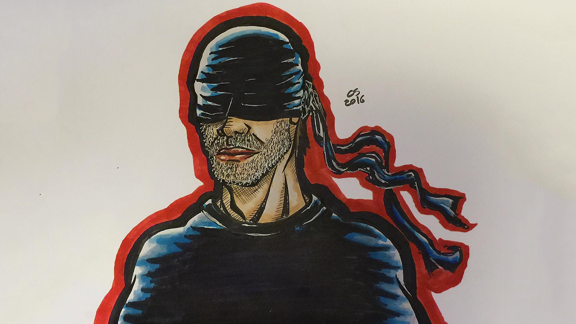 Daredevil (Man in Black) Drawing