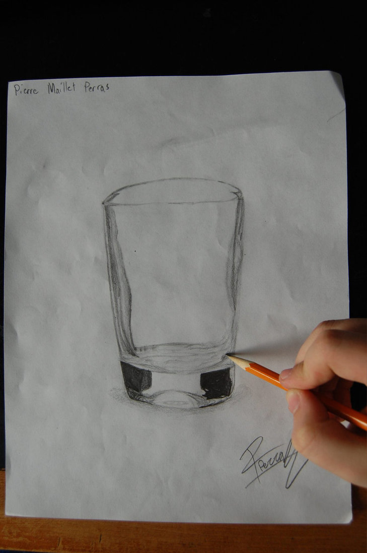Glasses - Realistic Drawing