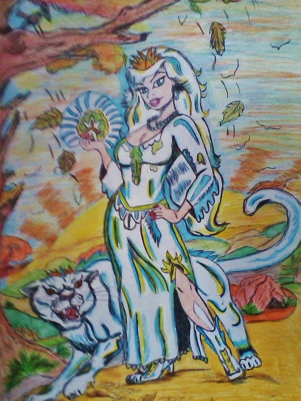 Lady Winter with Chill cougar ICZEE strolling through Fall-halla