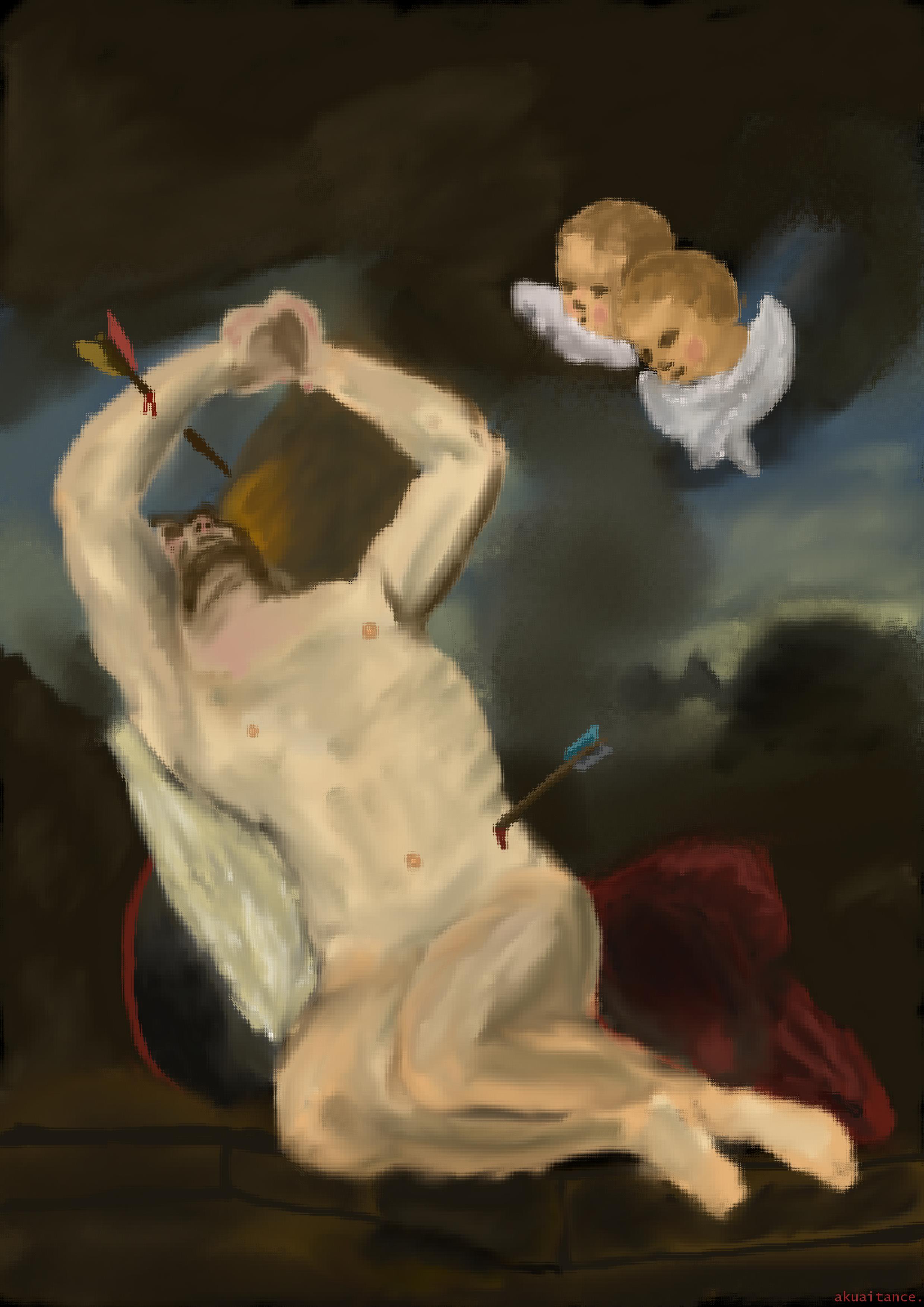 Heilige Sebastian (master study)