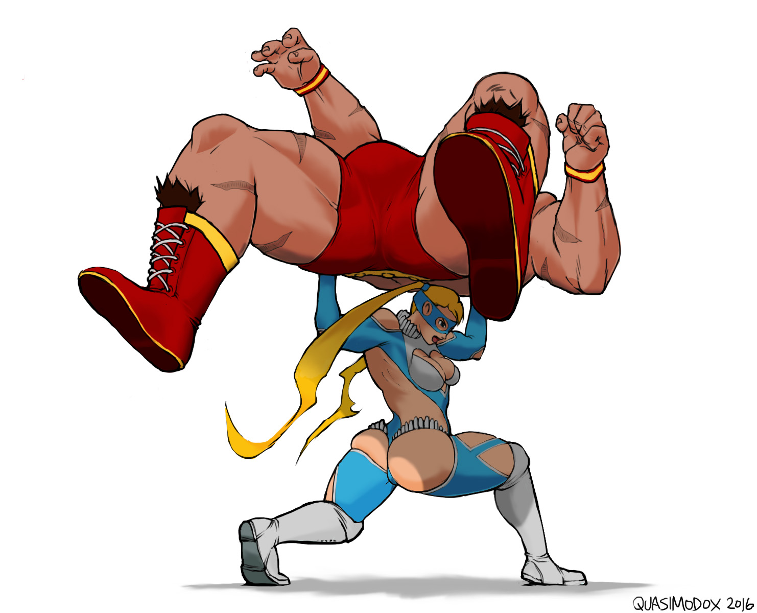 R. Mika VS Zangief -Street Fighter