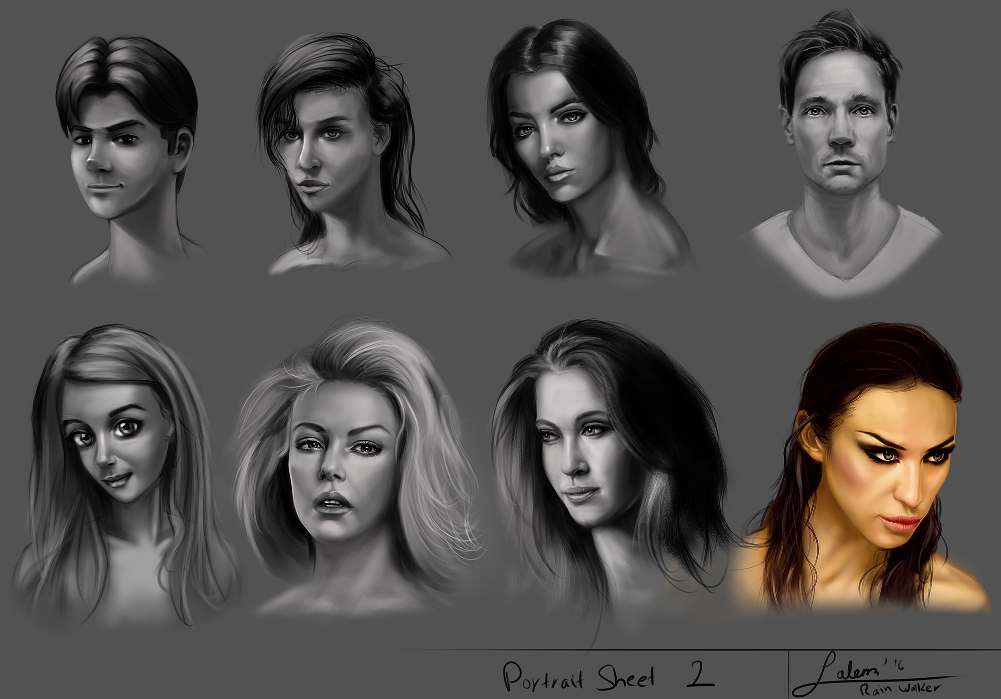 Portrait Drawing - Part 2/30 (Different Styles)