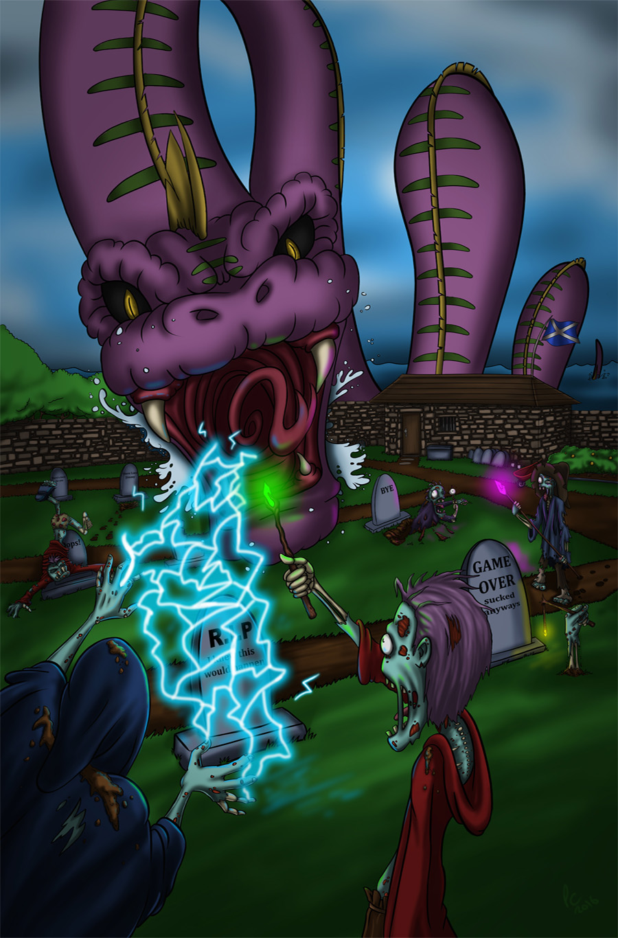Lochness Monster vs Wizard Zombies!