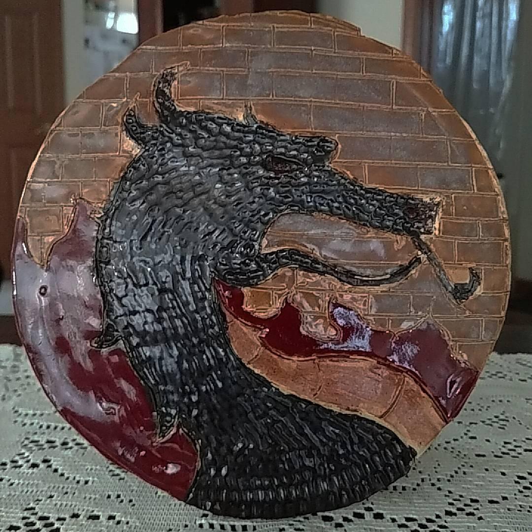 Ceramic Dragon Plate