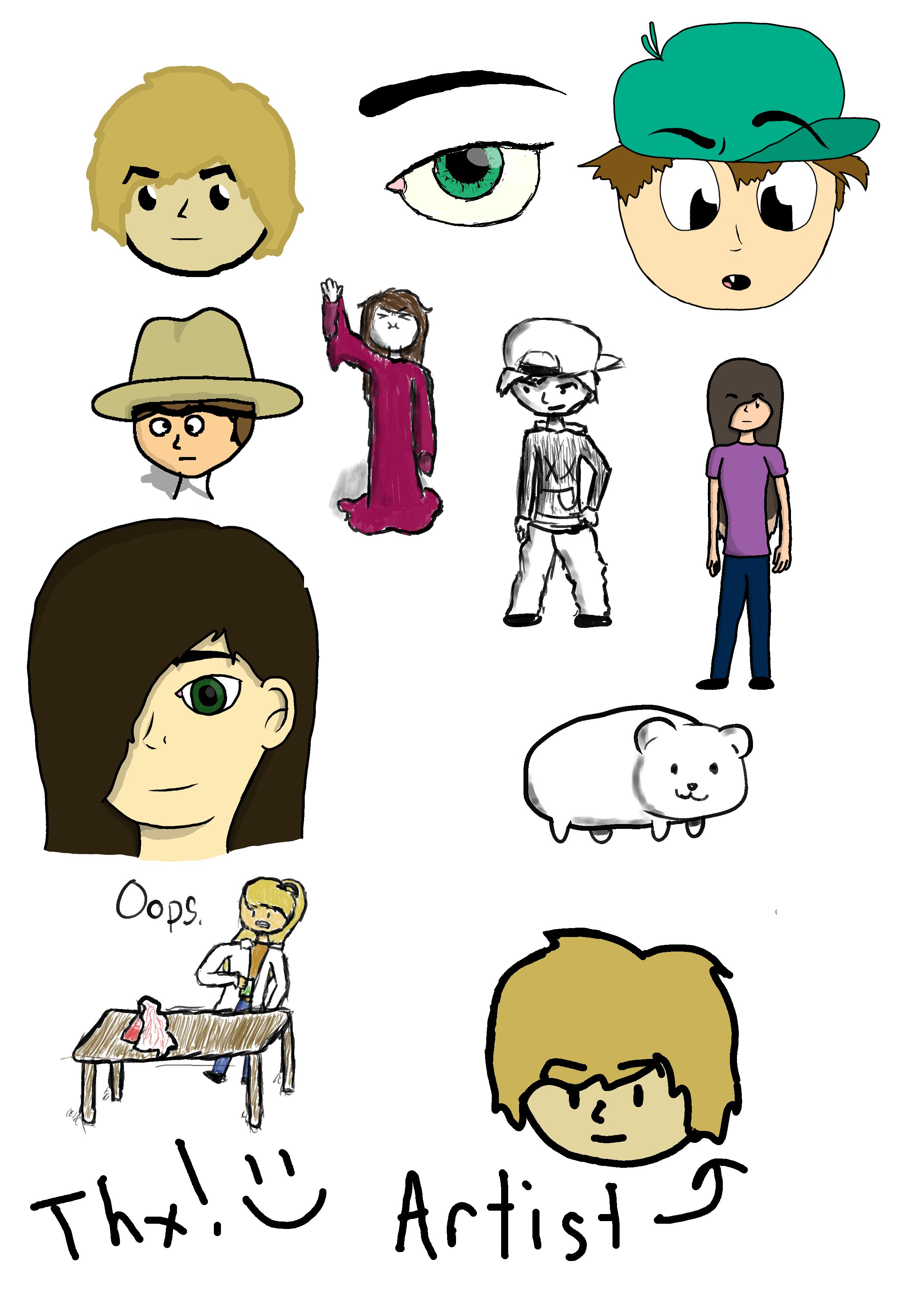 Doodles.