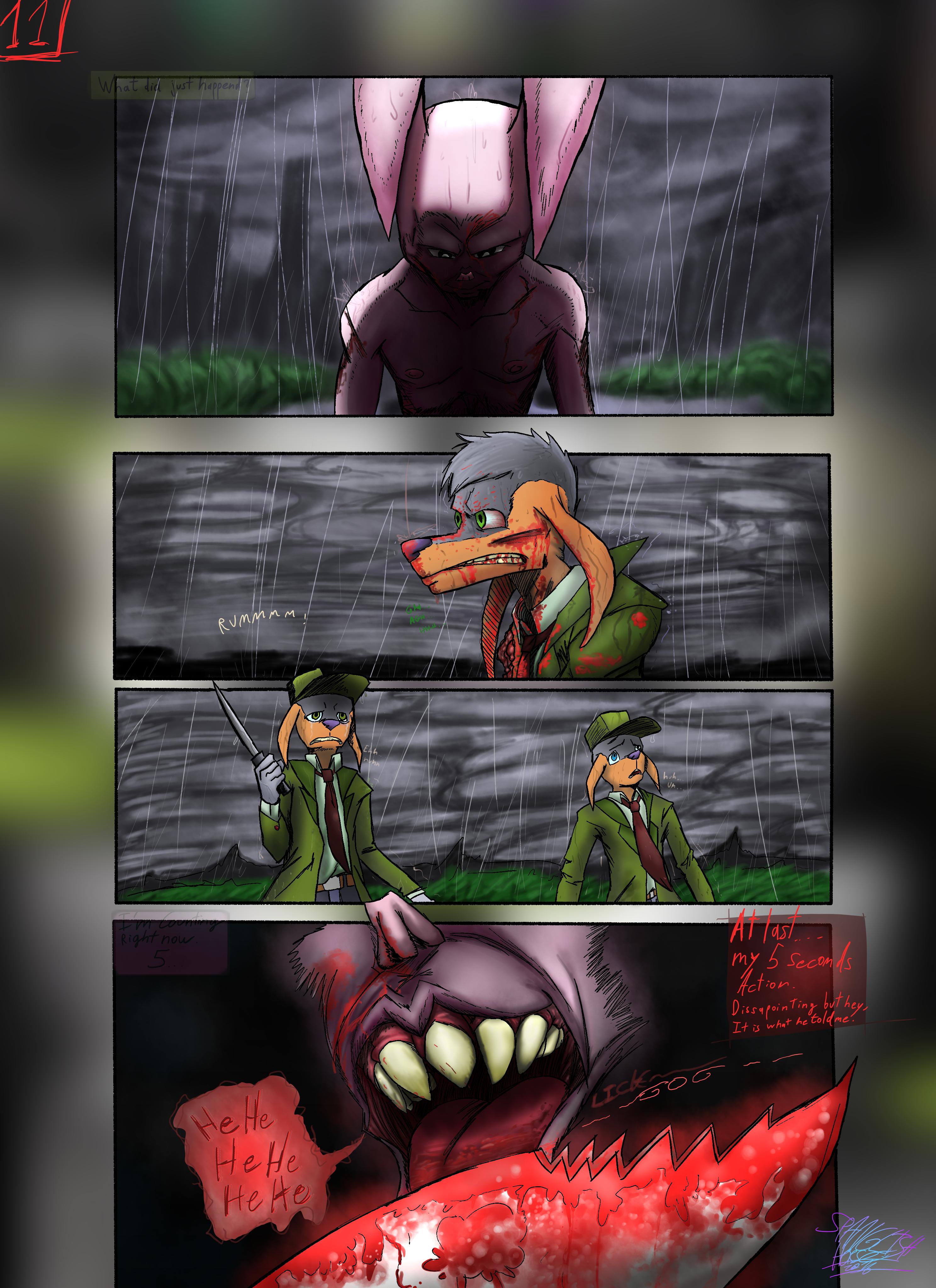 Bob the Psycho Rabbit Vs Alfred Alfer Page 11 (comic) (11/39)
