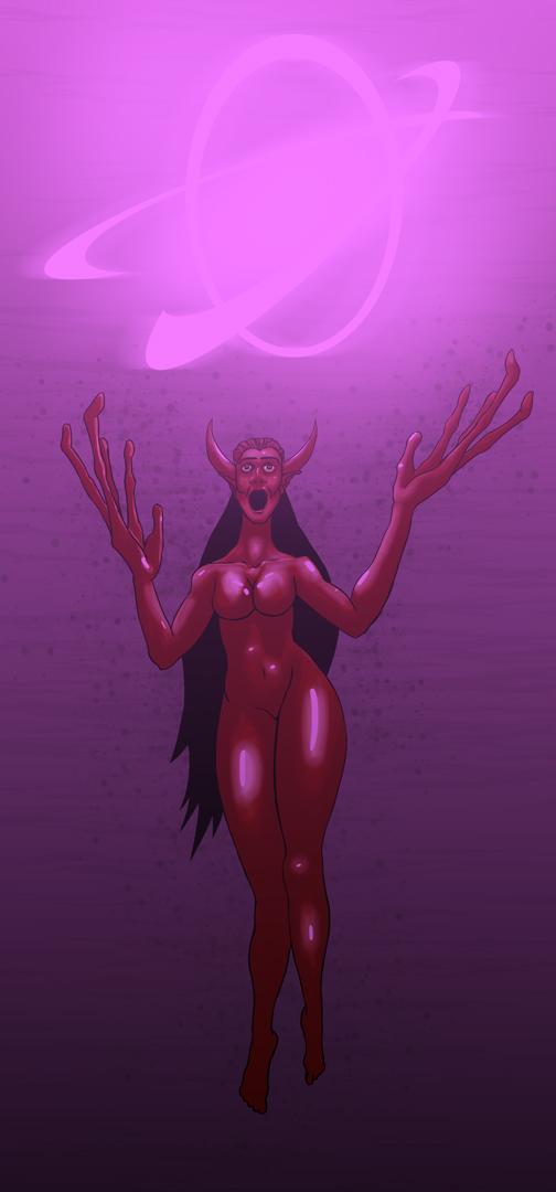 devil girl cartoon