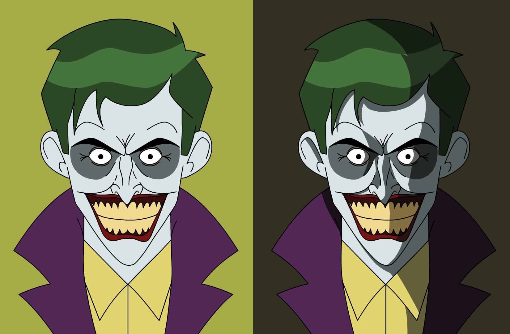 Cartoon-styled 'Killing Joke' Joker