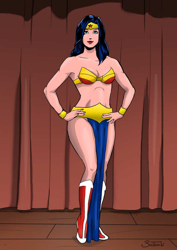 Wonder Woman as a Belly Dancer