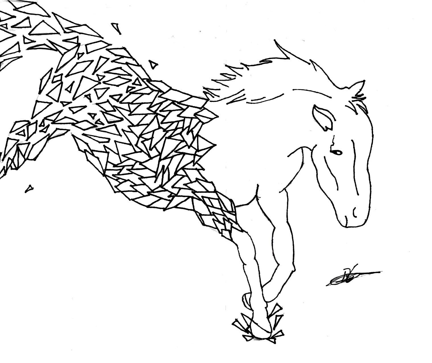 fragmented horse
