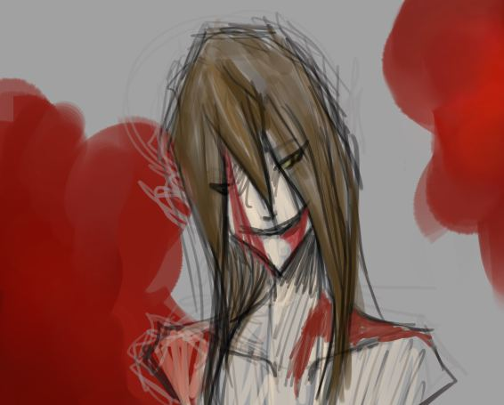 bloody head