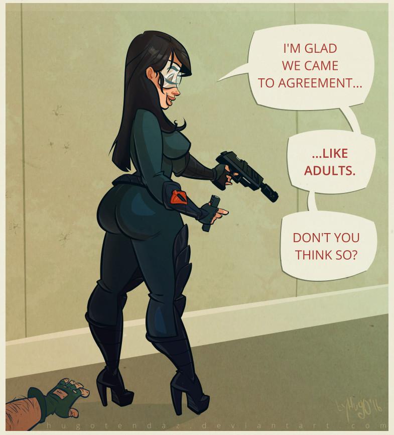 Baroness GI Joe -PinUp Cartoon