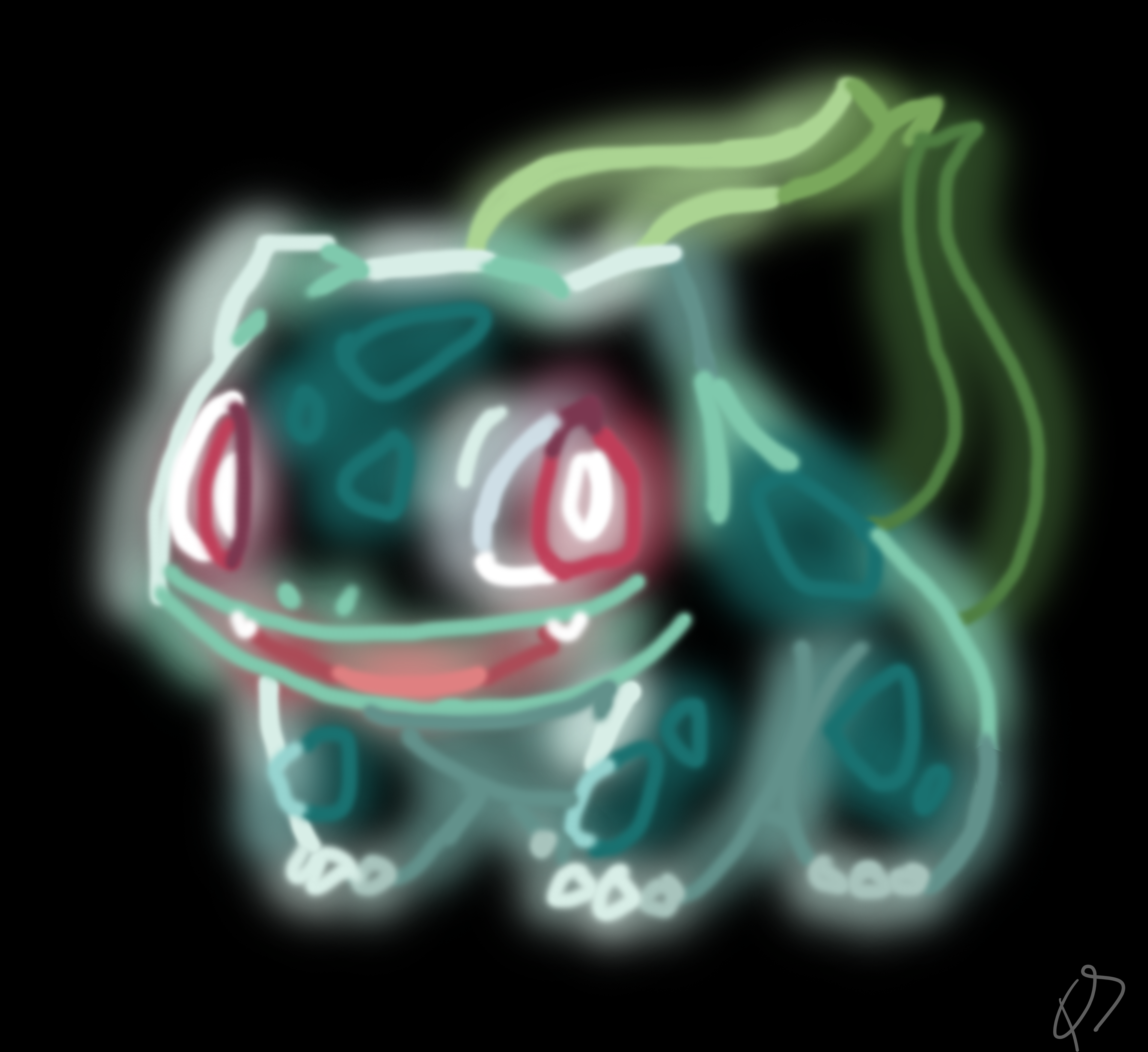 Bulbasaur [ neon glow ] | POKEMON